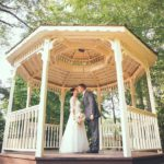 Love in the cutest gazebo
