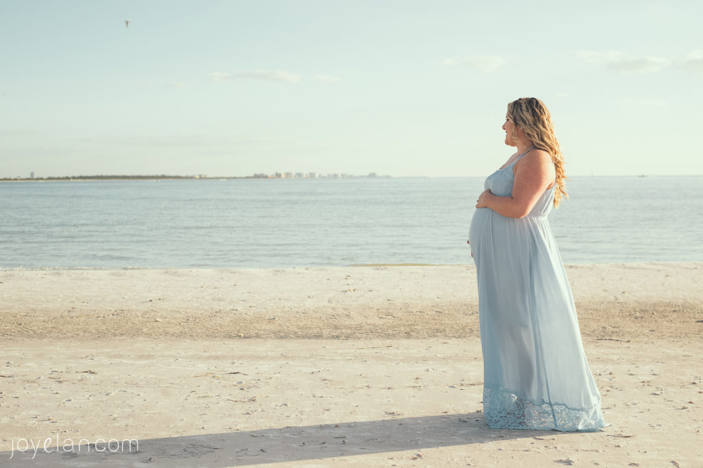 Clearwater Maternity Photographers | www.Joyelan.com | Honeymoon Island Sunset Maternity Session